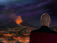 Picard watching volcano
