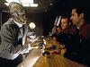 Quantum Cafe bartender, production shot