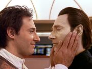 Soong and Data in Data's dream