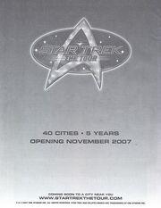 Star Trek The Tour ad from Las Vegas con 2007
