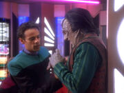 Bashir with Garak after attack