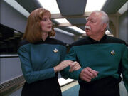 Beverly Crusher and Dalen Quaice