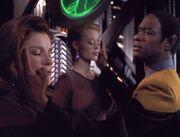 Geistesverschmelzung von Tuvok mit Janeway und Seven of Nine