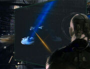Locutus of Borg overseeing the Battle of Wolf 359