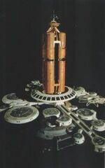 Orbital office complex, studio model