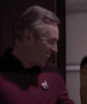 Ensign Torigan in Ten Forward