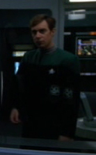 Voyager crew member sleeping in sickbay 3