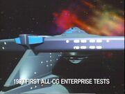 USS Enterprise TNG evalution finalized CGI model, aft view
