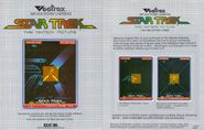 Vectrex Star Trek The Motion Picture game box