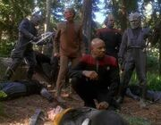 DS9 crew with Jemhadar