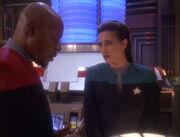 Dax und Sisko unterhalten sich