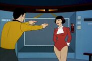 Sulu conjures a woman