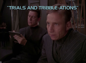 Trials and Tribble-ations title card