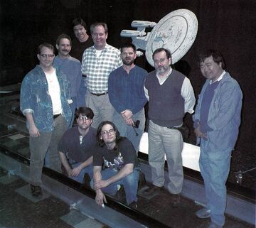 Dan Curry and his TNG All Good Things... VFX team