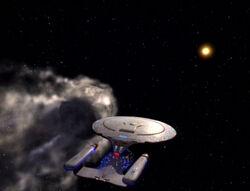 Enterprise and rogue comet
