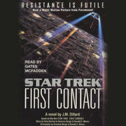 First Contact novelization audiobook cover, digital edition