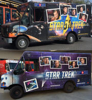 Canada Post Star Trek mail vans