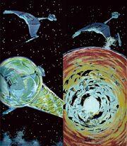 D7-class destruction concept art for Star Trek PhaseII
