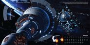 2010 Star Trek Ships of the Line calendar December spread