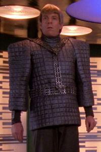 DeSeve in Romulan uniform