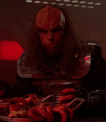 ...as a Klingon officer