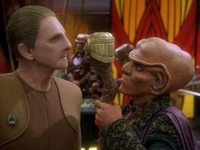 Quark tells Odo to kiss it