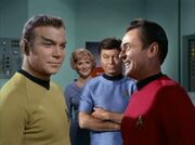 Scott recognizes Kirk as Romulan