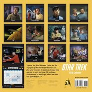 Star Trek Calendar 2016 back cover
