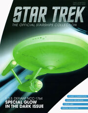 Star Trek Official Starships Collection Glow In Dark USS Defiant issue