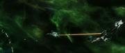 USS Enterprise-E attacks the Scimitar