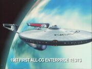 USS Enterprise TNG evalution finalized CGI model, front total view
