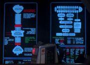 USS Jenolan's warp propulsion system display