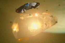 Chintoka asteroid-moon exploding
