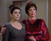 Deanna and Lwaxana Troi, 2364
