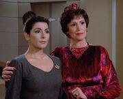 Deanna and Lwaxana Troi, 2364
