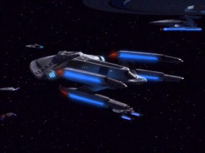 Prometheus-Klasse bei Ankunft der Voyager