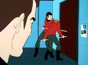 Scott lässt die Tür aufbrechen