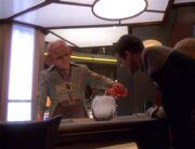 Quark mixt einen Drink