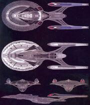 Sovereign class CGI model by Santa Barbara Studios