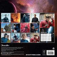 Star Trek Into Darkness Calendar 2014 UK back