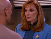 Crusher untersucht Picard