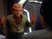 Quark erklärt Sakonna die Logik des Erwerbs