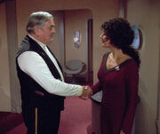 Scotty and Troi deleted scene from Relics