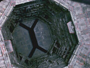 Dyson sphere interior airlock corridor
