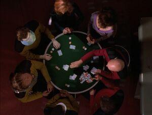 Senior staff poker game
