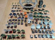 Star Trek Attack Wing displayed ships