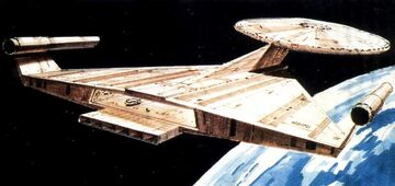 USS Enterprise, Planet of the Titans, aft