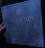 USS Equinox dedication plaque