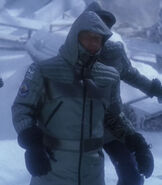 Arctic gear with gloves