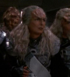 ...as a Klingon flag officer